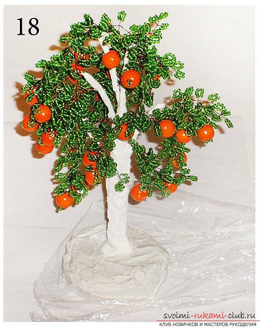 Detailed step-by-step photos and description of weaving of bead trees, two master classes .. Photo # 9