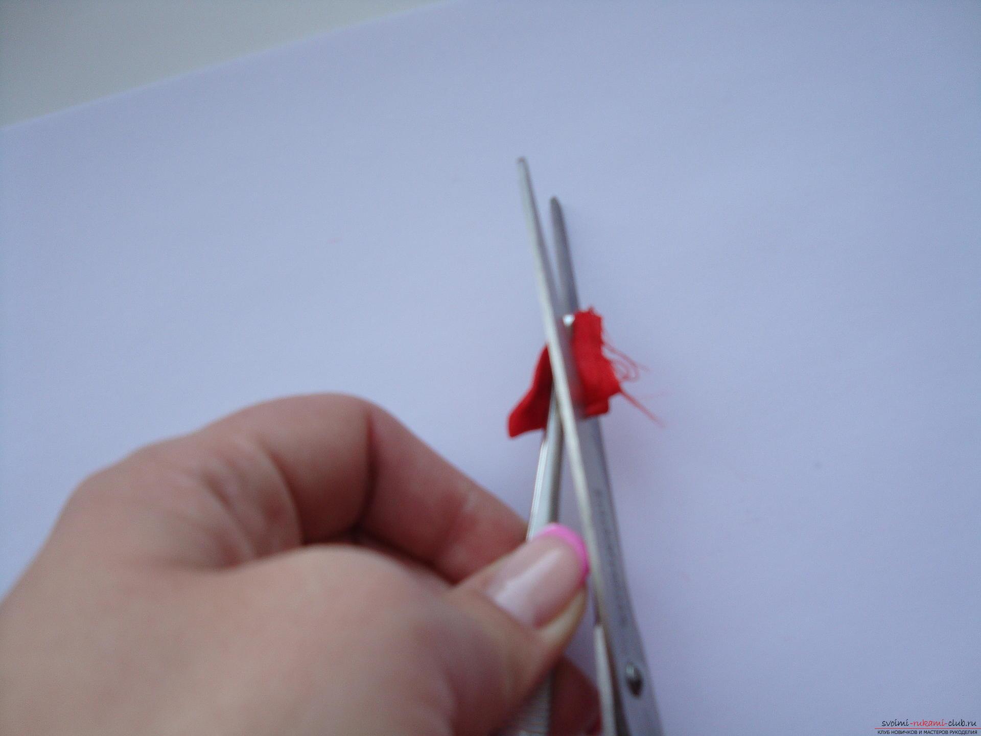 Инструкция стъпка по стъпка за това как да направите сатенено цвете. Снимка №8