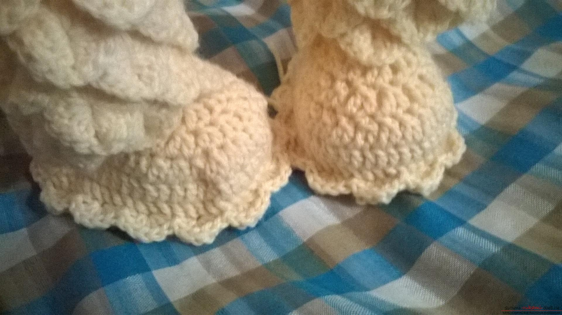 This master class with a description, diagram and video will teach how to knit booties crocheted .. Photo # 29