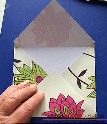 Scrapbooking a New Year's card-envelope with your own hands - a step-by-step master class. Photo # 2