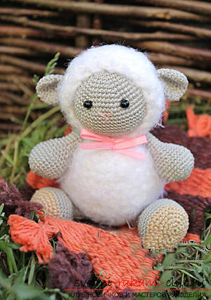Tie the lamb amigurumi with your own hands using the hook: step-by-step description and photo. Photo №4