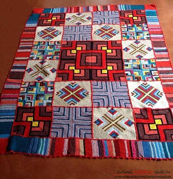 Quickly and easily sew an original rug from shreds. Photo №4