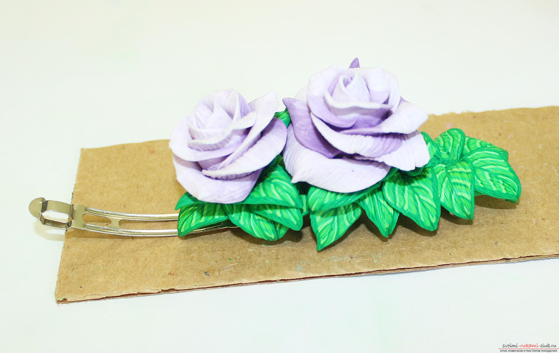 This master class with a photo and description will teach you how to make flowers - roses - from polymer clay in texturing technique. Photo # 79