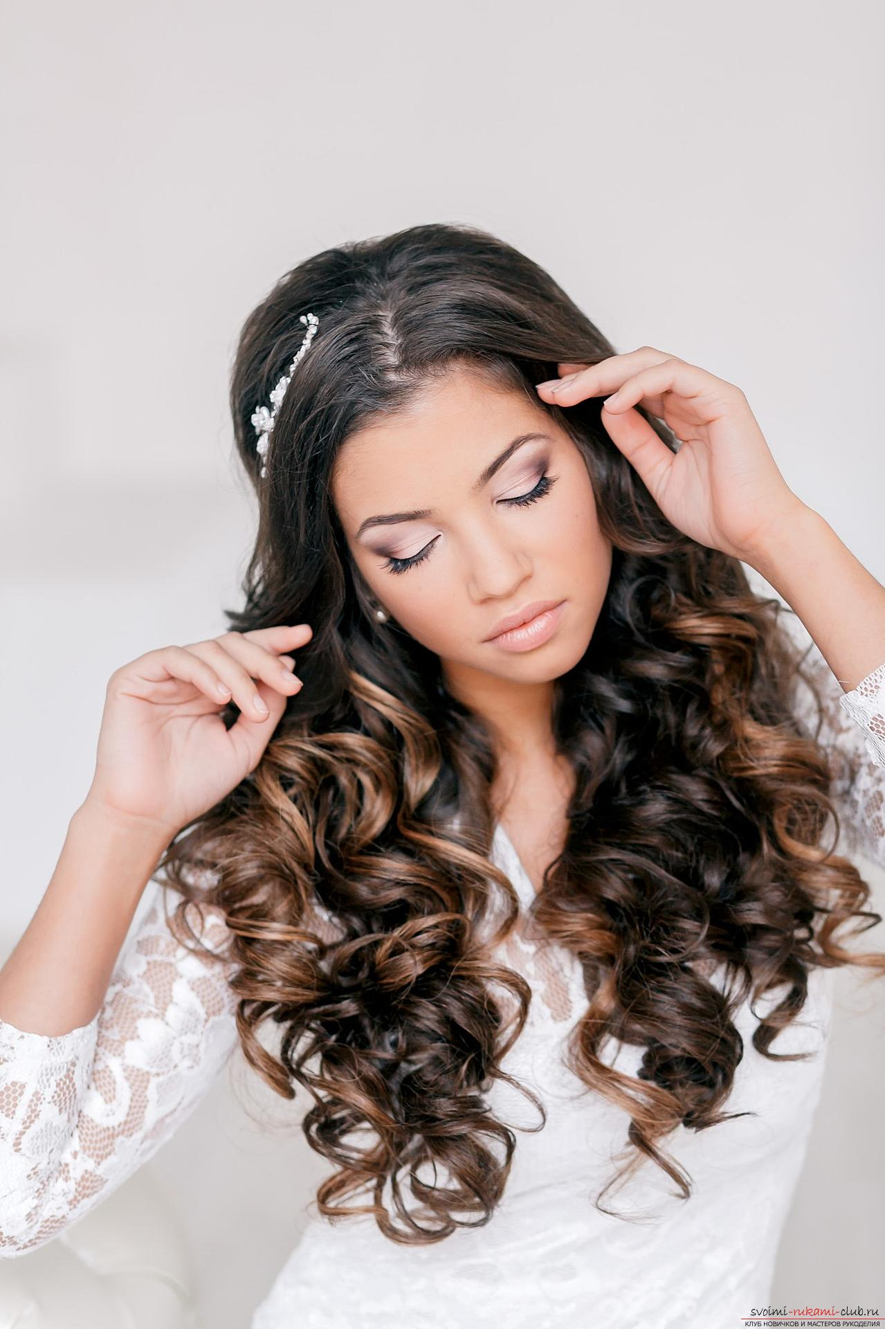 Photo gallery of wedding hairstyles for hair of different length. Photo # 2
