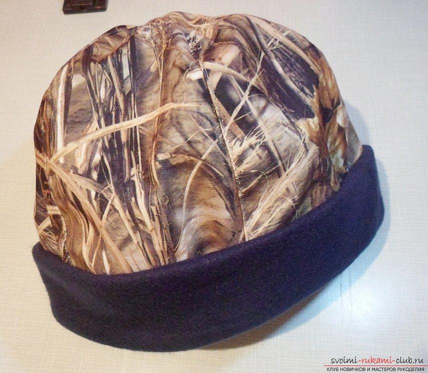 Pattern and sewing of a man's work hat. Photo # 2