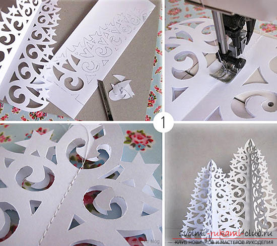 New Year's decor with their own hands, Christmas trees made of paper, how to make an original Christmas tree of paper with their own hands .. Photo # 3