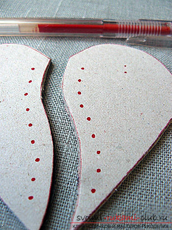 Valentine's Day gifts with your own hands, various variations of making Valentine's cards with your own hands, a magnet in the form of a heart as a gift to your beloved .. Photo №18