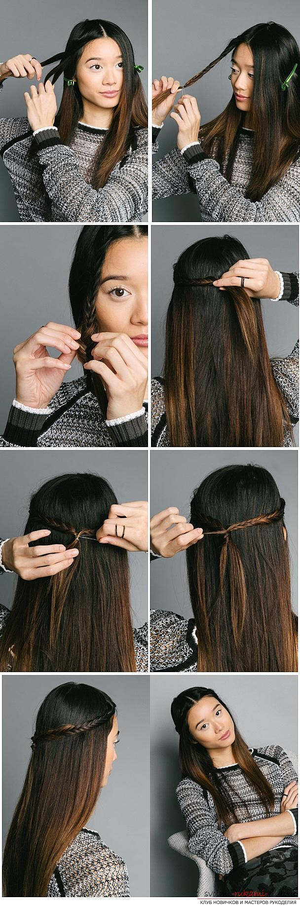 How to beautifully and quickly braid long hair at home with their own hands, step by step photos and description. Photo №1