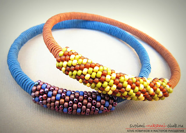 Lessons in creating a bracelet from beads with your own hands. Materials are free .. Picture №2