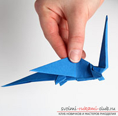 Blue dragon origami. Photo №32