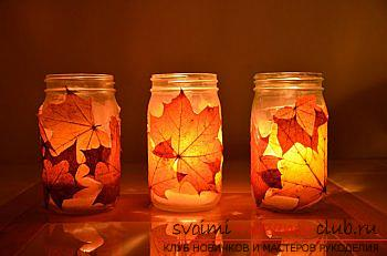 Crafts, autumn crafts that can be made from leaves, an autumn glass ball, paintings on the theme of autumn, detailed instructions and phased photos .. Photo # 30