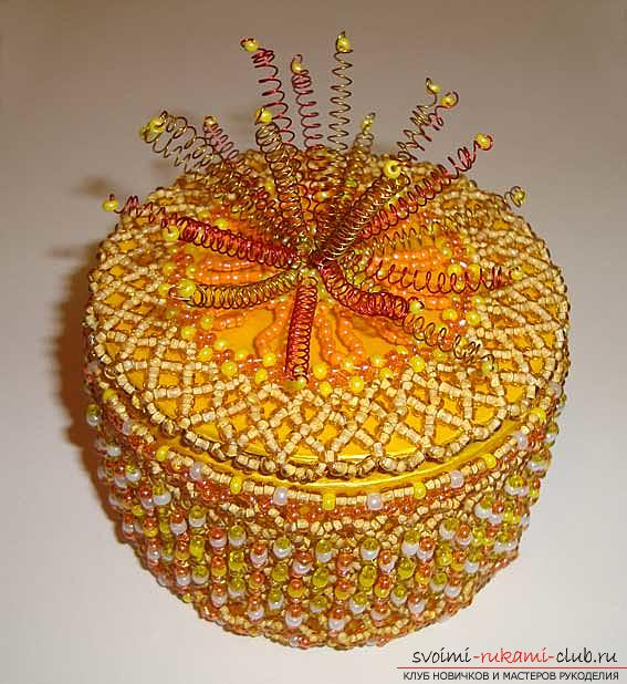 Several master classes to decorate the caskets with beads, photos, ideas for inspiration .. Photo # 1