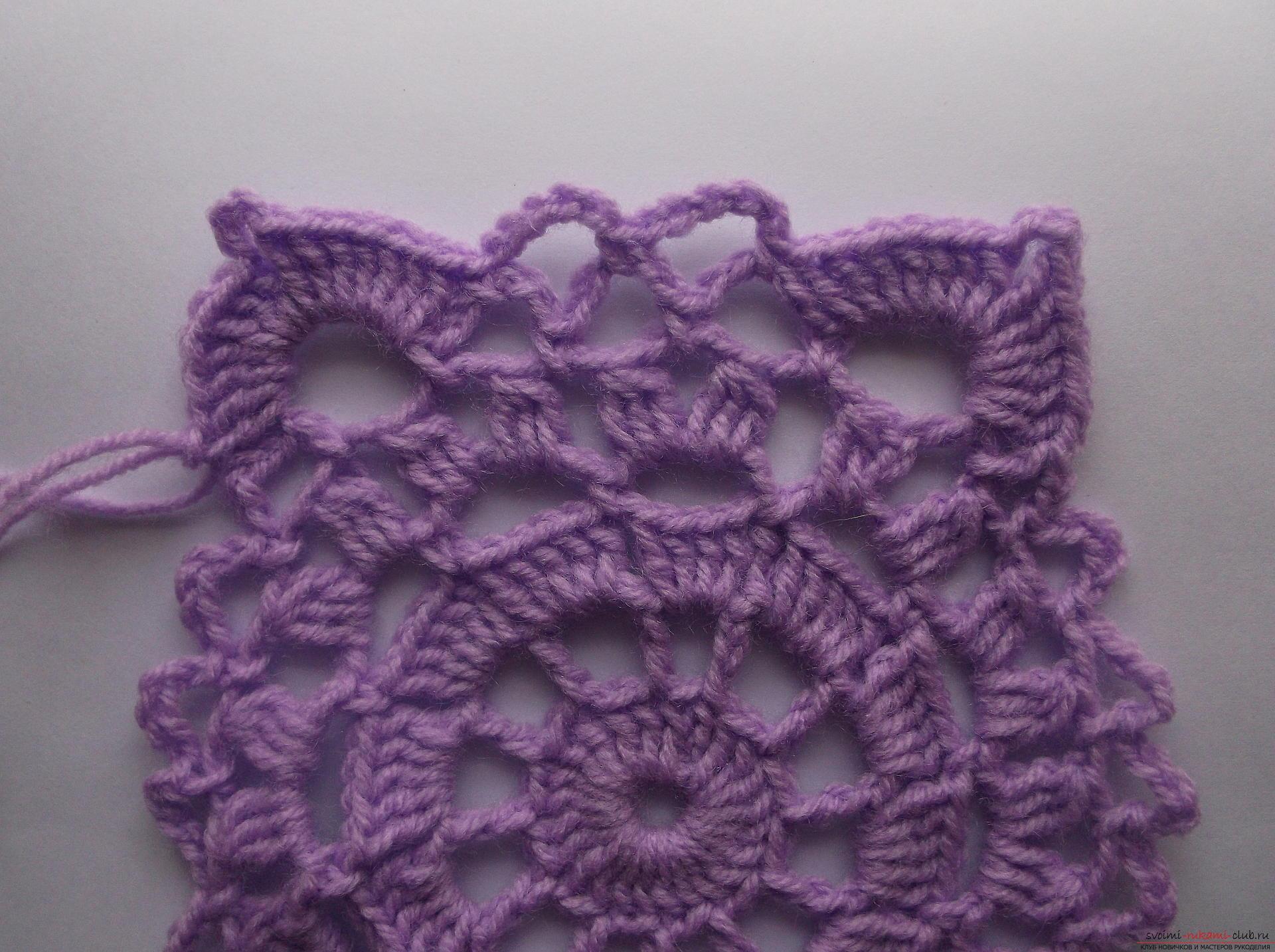 Снимка в урока за плетене на плетени апликации малки салфетки. Снимка №10