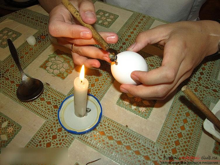 We decorate the egg with the help of the wax painting technique - master class and photo. Picture №3