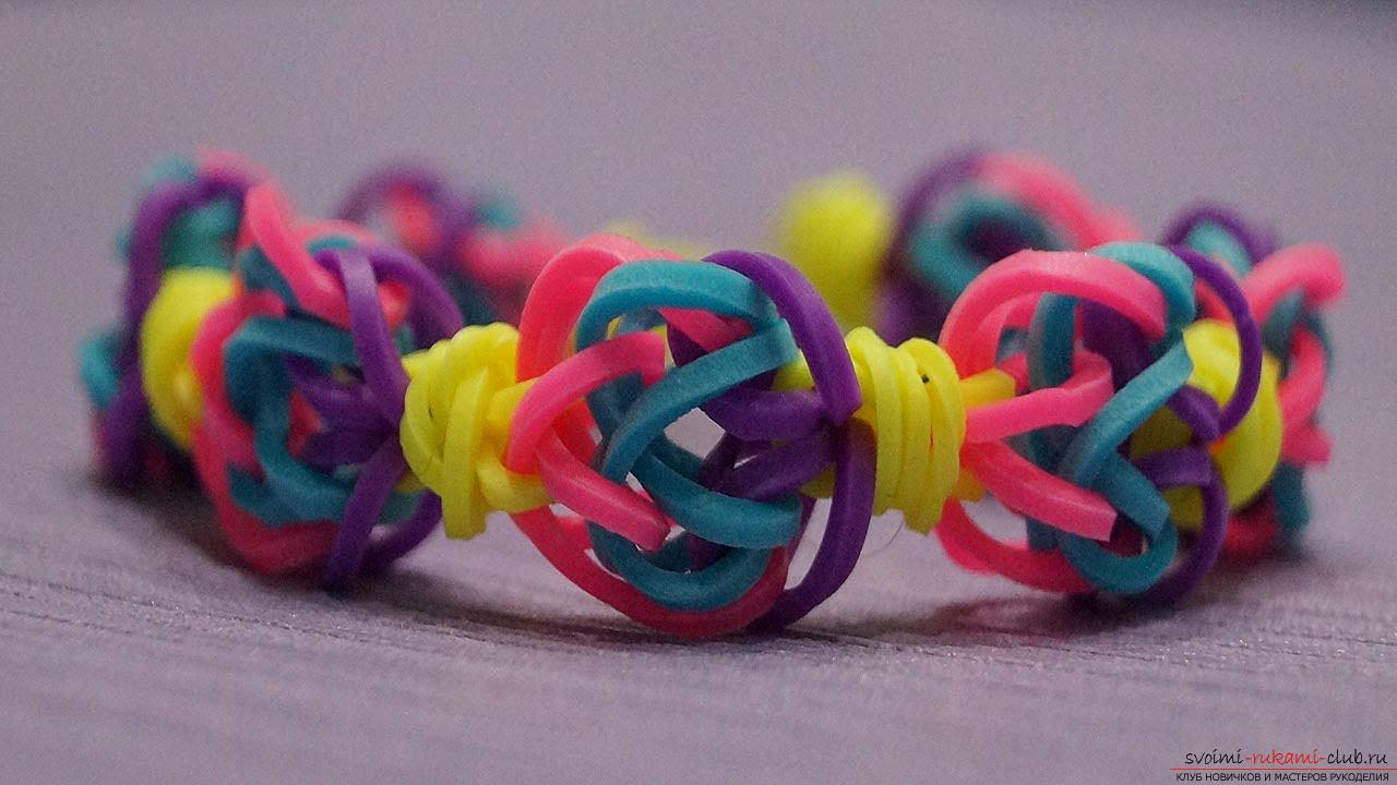Kinds of bright bracelets of rubber for weaving their own hands with photos and descriptions. Photo №6