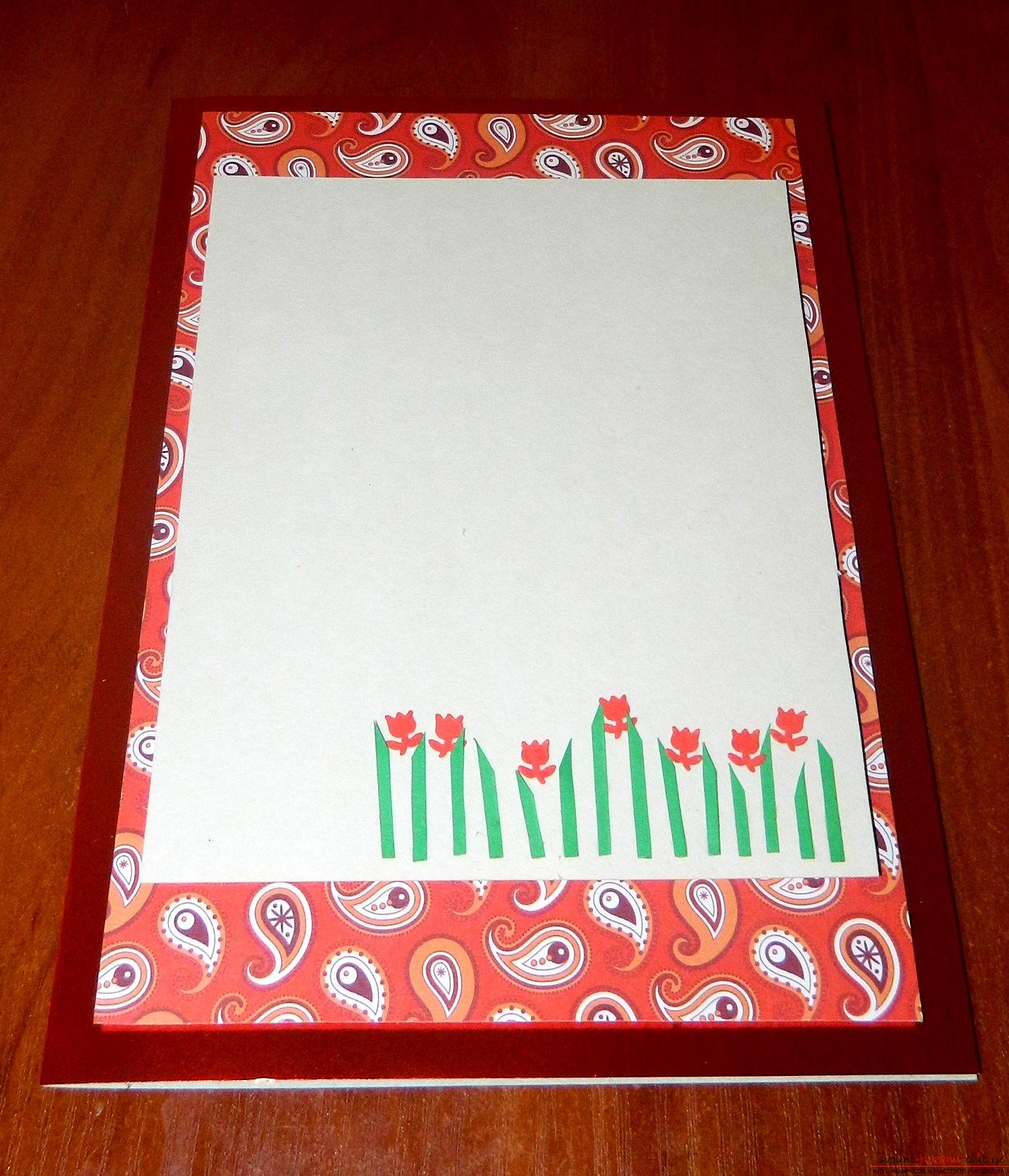 If you want to learn how to make a card with your own hands, look into this master class .. Photo # 9
