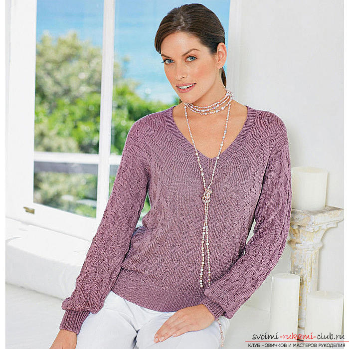 Tie a short pullover quickly and easily. Picture №3