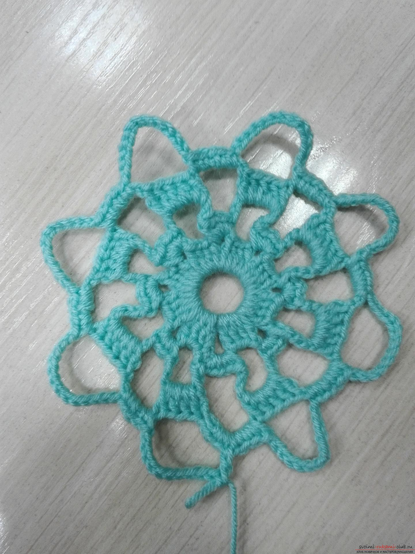 A master class on crocheting an openwork napkin will be clear even for beginners. Photo Number 9