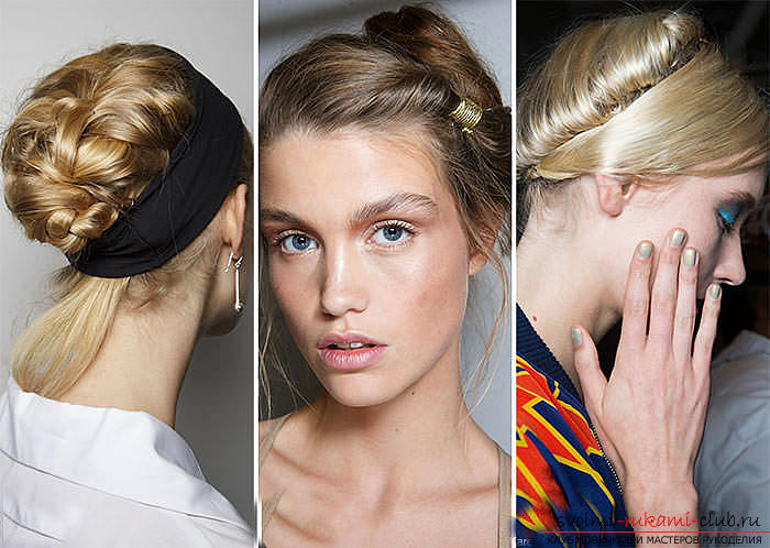 We learn to make fashionable hairstyles for the spring of 2016 with our own hands. Picture №10