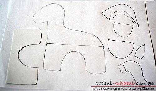 How to sew a horse out of felt with your own hands, step by step photos and detailed descriptions of the work, several different sewing options, both manually and on a typewriter. Photo # 2