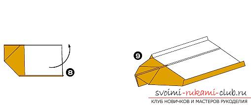 How to add funny dynamic figures from paper in origami technique for children of 7 years old. Photo # 5