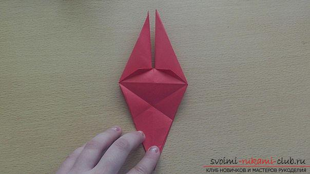 This detailed master class contains an origami-dragon scheme made of paper, which you can make by yourself. Photo # 25