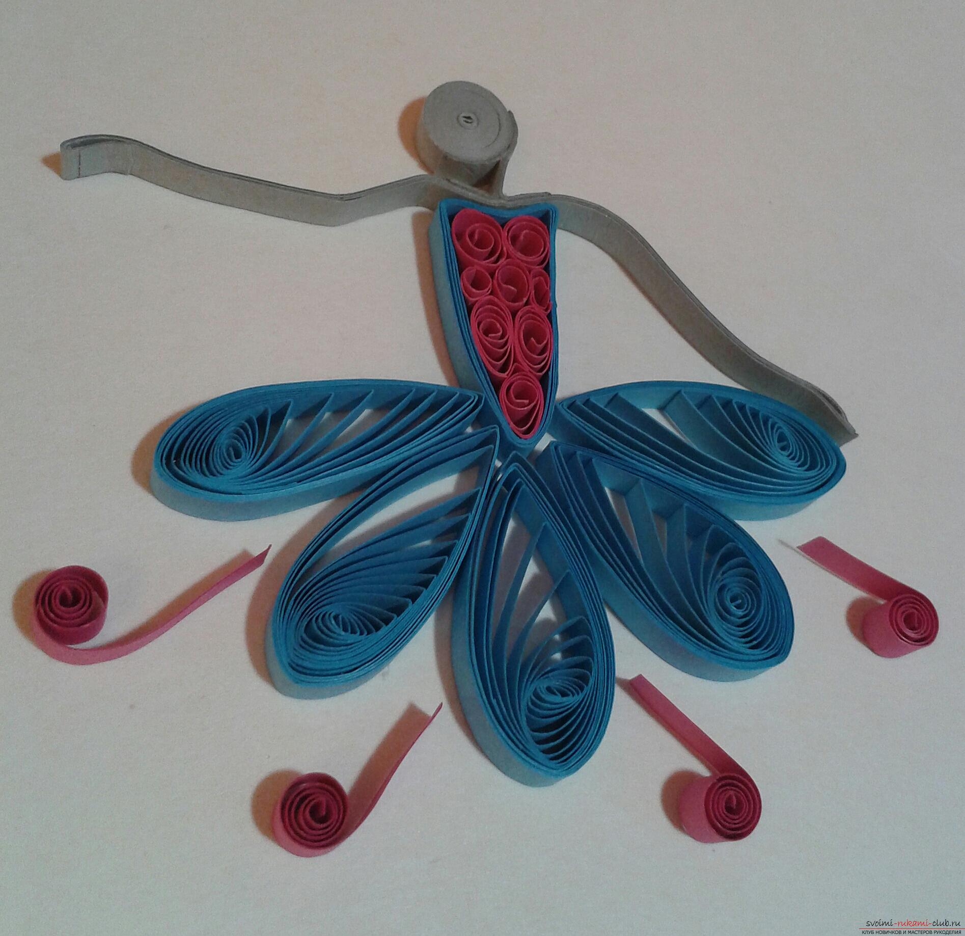 This detailed master class contains a lesson of quilling for beginners and will teach you how to make yourself a quilling ballerina. Photo # 17