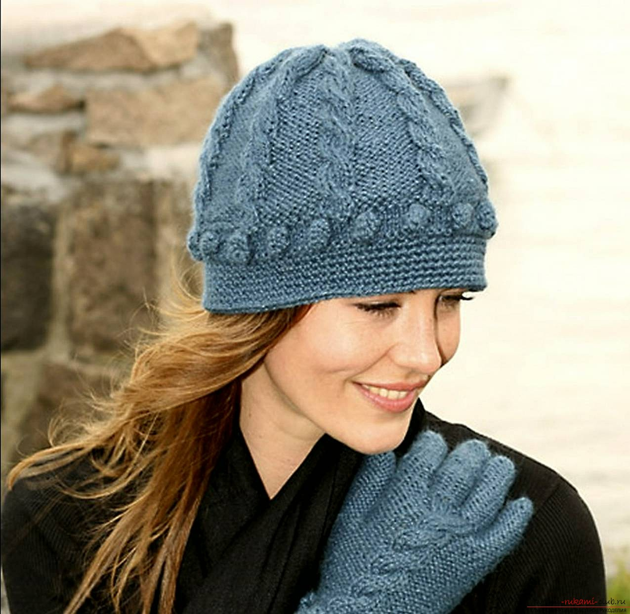 a knitted hat for women. Photo №4