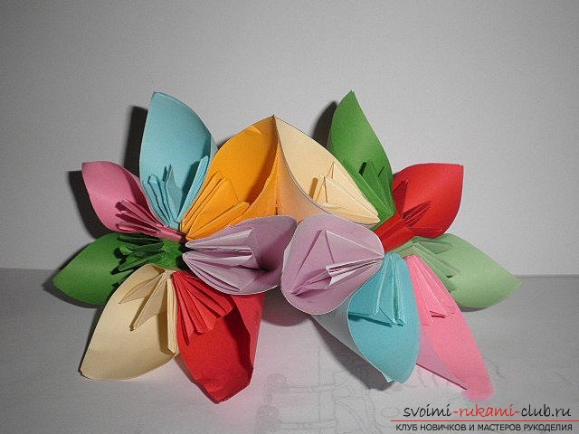 Kusudama for beginners. Photo Number 11