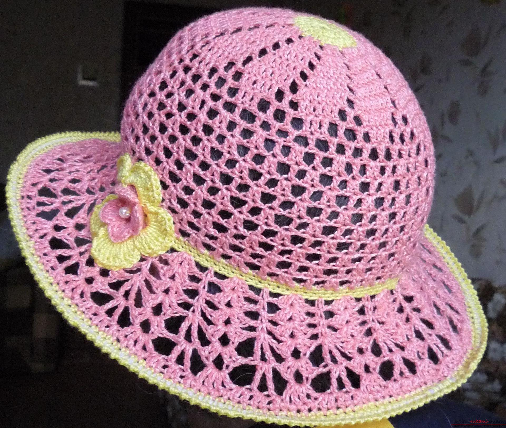 This detailed master class contains crochet lessons for beginners and will teach you how to crochet a summer hat .. Photo # 1