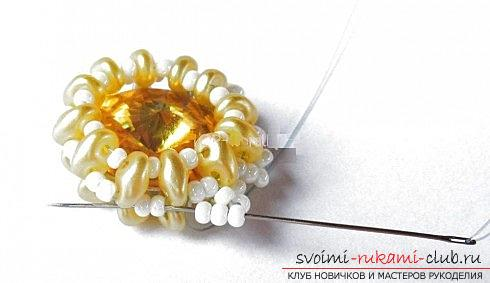 Several master classes on weaving earrings from beads, step-by-step photos and description .. Photo №40