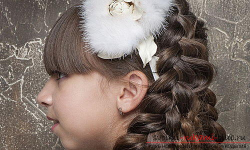 We learn to make beautiful hairstyles for medium hair for girls with our own hands. Photo Number 21