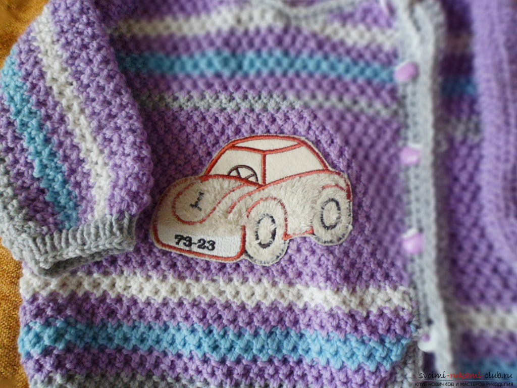 A knitted kit for a small child. Picture №3