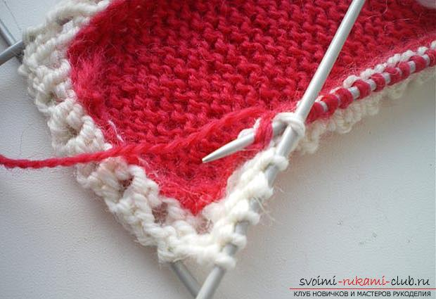 Unique baby booties with knitting needles for children. Picture №3