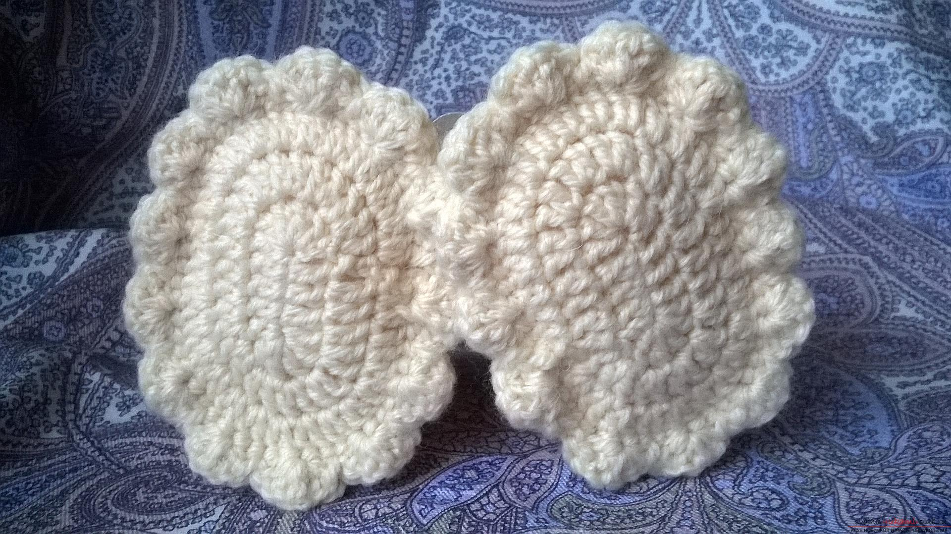 This master class with a description, diagram and video will teach how to knit booties crocheted .. Photo # 34
