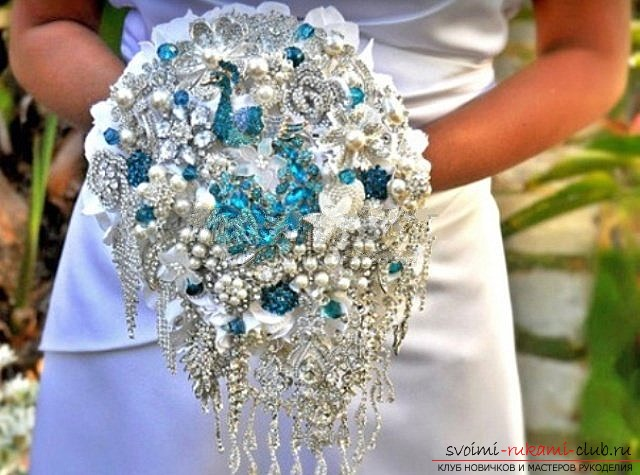 We make a wedding bouquet with our own hands. Photo №4