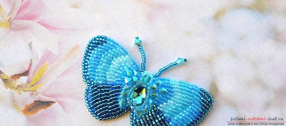 How to make a butterfly from beads according to the scheme? Hand-made beadwork. Photo №4