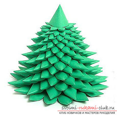 New Year's tree with their own hands, a Christmas tree made of cloth, how to make a New Year tree with their own hands, a Christmas tree made of candy, master classes on making Christmas trees .. Photo №15