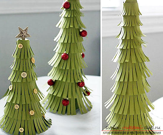 Christmas tree with their own hands, Christmas tree of paper, Christmas tree of cloth, how to make a New Year tree, tips, recommendations, step-by-step photos .. Photo №1