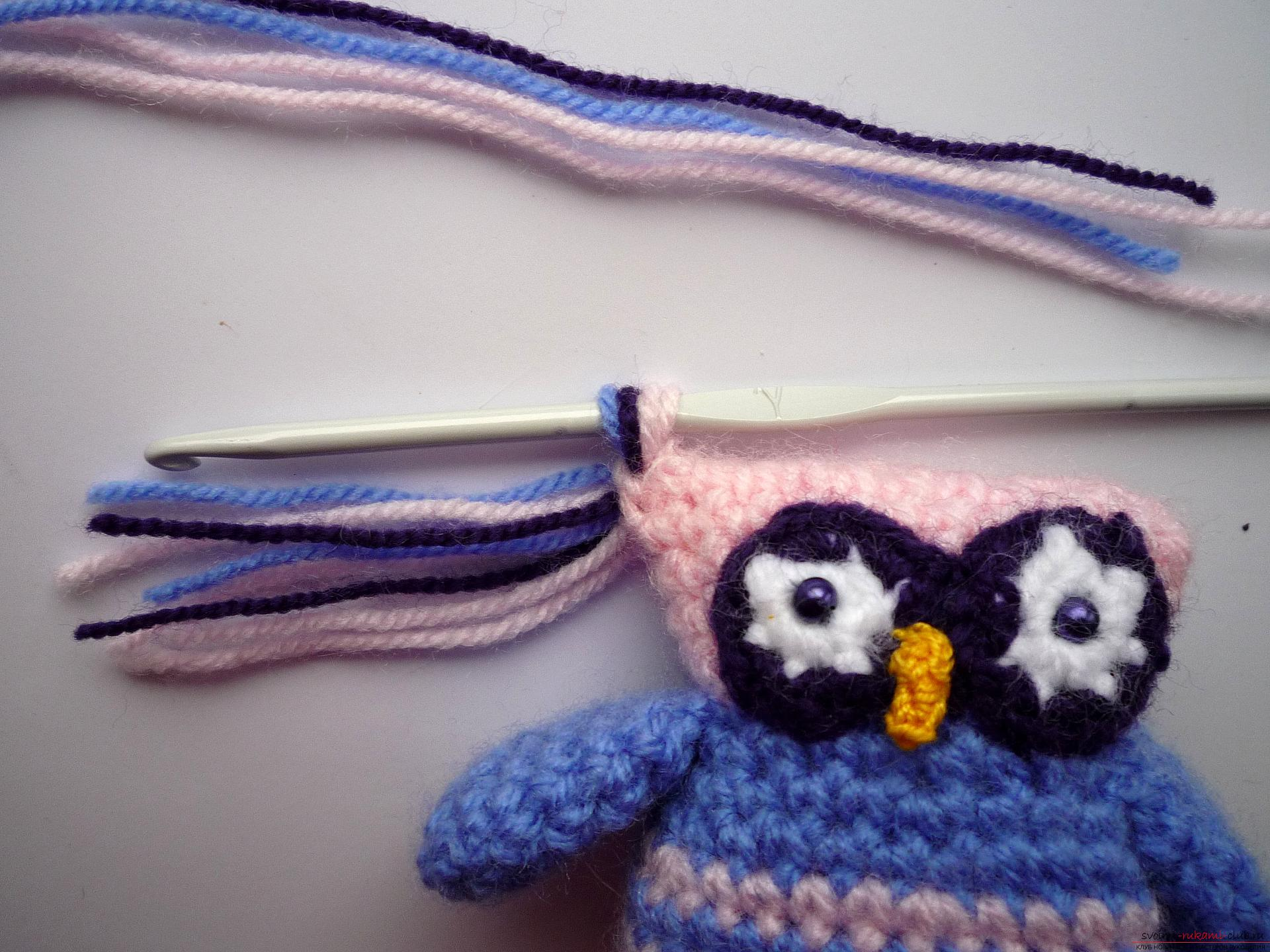 A detailed master-class will teach how to crochet a toy - an amenity in the amigurumi style. Photo number 17