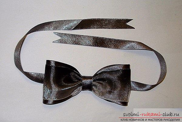 How to make a bow-tie and a bow tie in Kansas technique, detailed master classes with step-by-step photos and process description .. Photo # 32