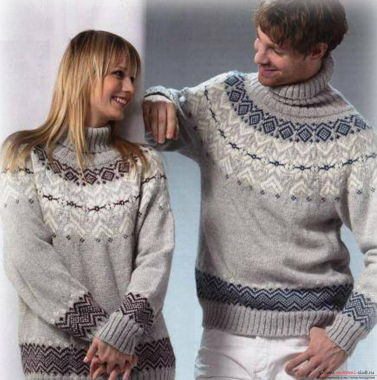 knitted knitting sweater with a Norwegian pattern. Photo №4