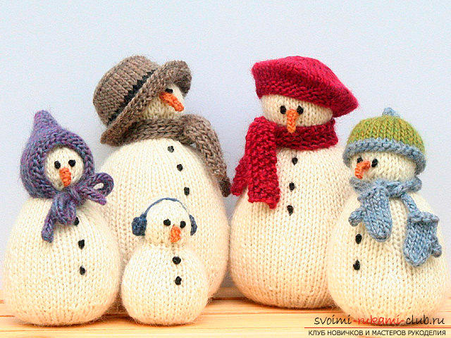 Bright snowman with amigurumi crochet with description and photo. Photo №6