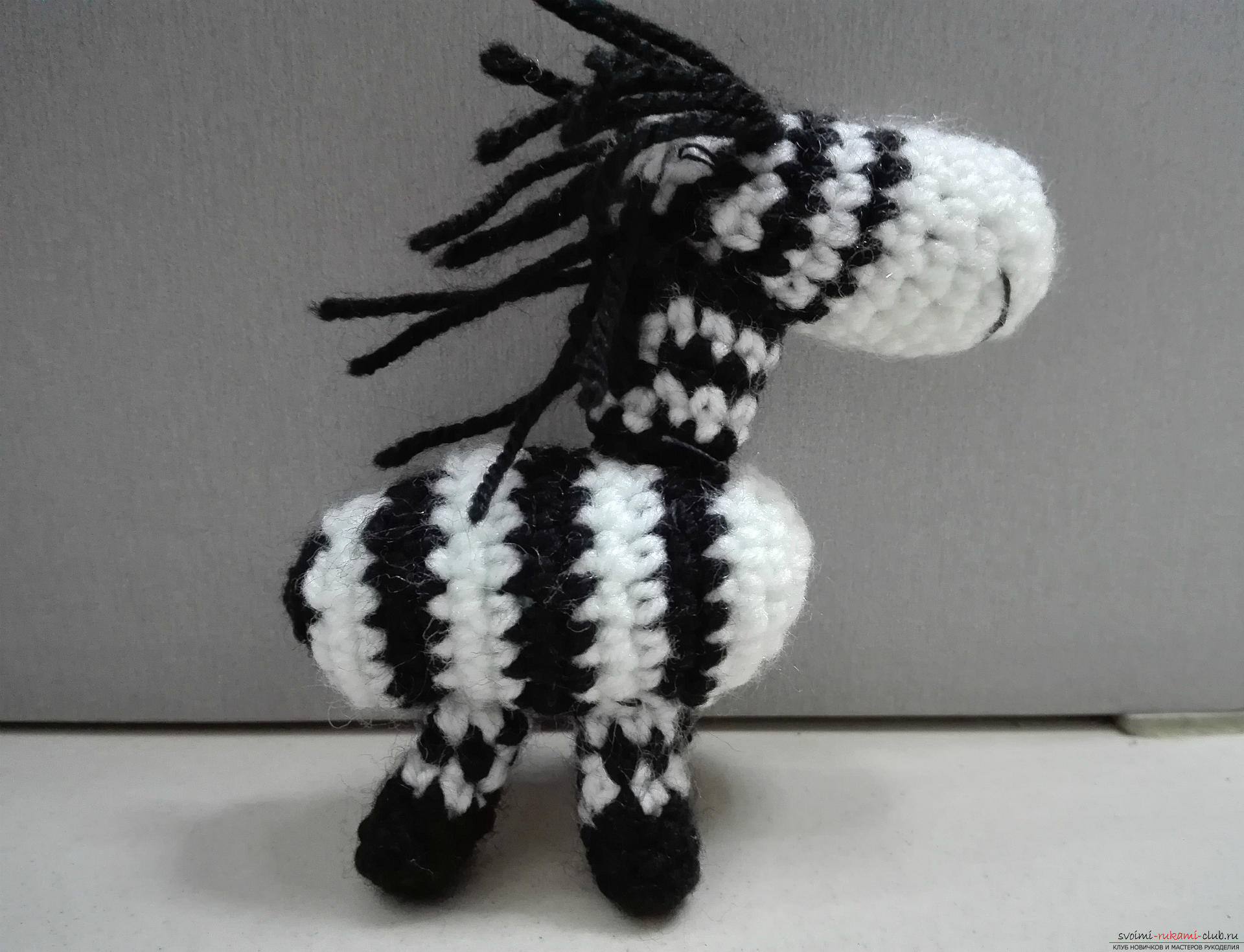 This master class toy itself teach how to tie a zebra crochet. Photo №1