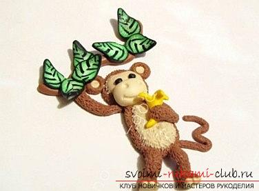 New Year monkey from polymer clay - lessons for gifts in 2016 with their own hands. Photo №5
