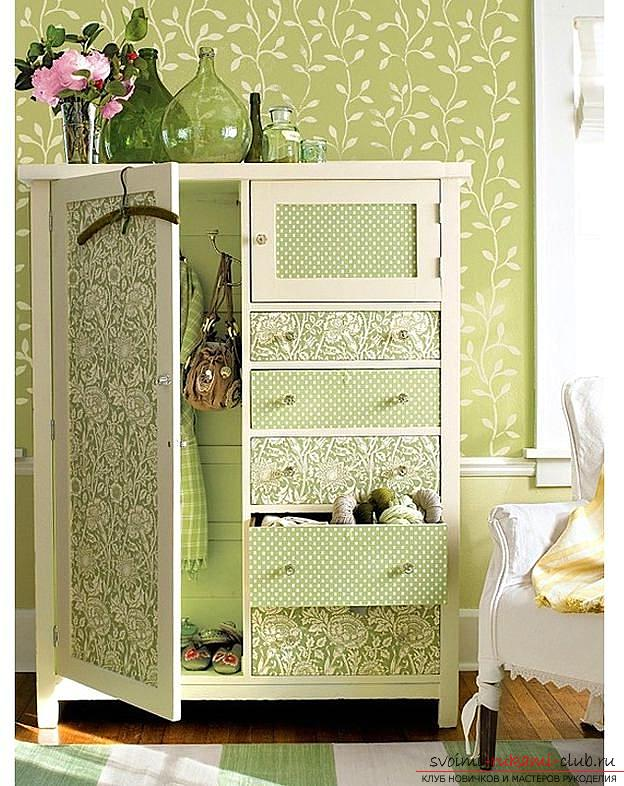 Decor furniture, the decor of the cabinet, how to decorate the closet with your own hands, photo, various decor options .. Photo # 2