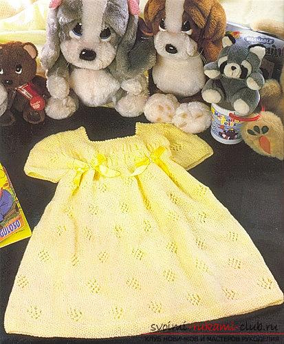 We knit a baby dress for a girl of two years according to the scheme and description. Photo №7