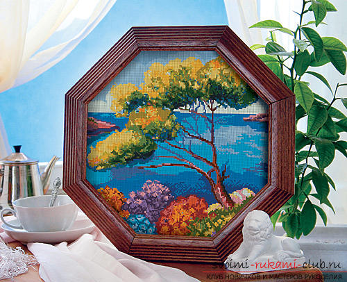 Cross-stitch embroidery of landscapes with schemes for beginners. Picture №3