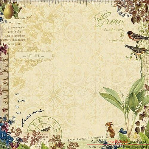 A unique master class of scrapbooking: how to choose a background for a beautiful finish .. Photo # 1
