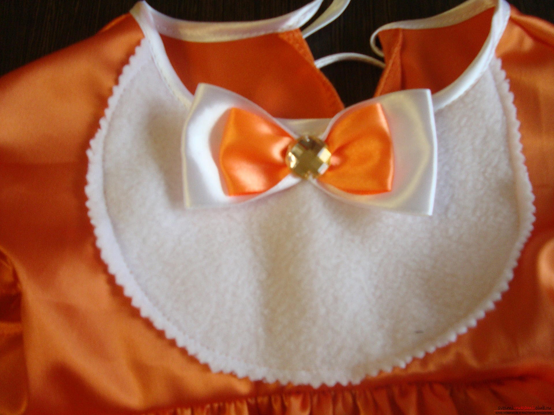 This master class will teach you how to make your own children's carnival fox costume for a girl. Photo Number 14